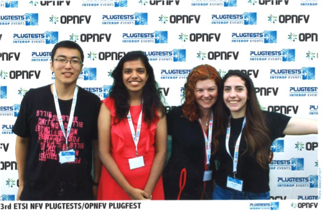 OPNFV Plugfest the interns and Heather